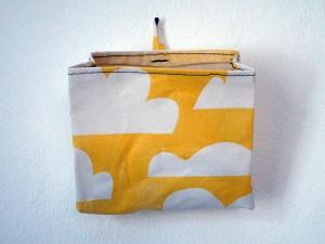 Tasche mit Wolkenmuster